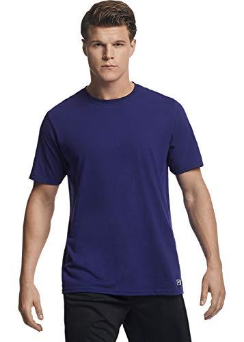 Russell Athletic Men's Performance Cotton Short Sleeve T-Shirt, Purple, 4XL