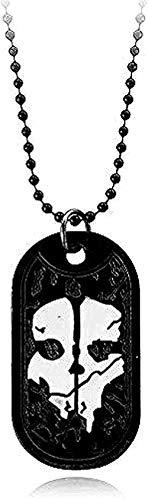 Collar de joyería de moda para hombre, colgante de collar con etiqueta de perro fantasma, placa de identificación del ejército para la serie de servicio militar con armas de regalo para fanáticos de l