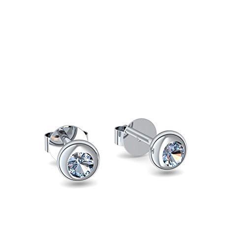 Ohrstecker Silber Ohrringe Blautopas 925 + inkl. Luxusetui + Blautopas Ohrringe Silber Blautopasohrringe Silber (Silber 925) - Basic Stars Amoonic Schmuck AM12 SS925BTFA