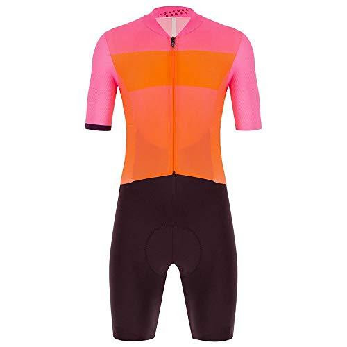 Santini Redux Fortuna Skin Suit, Tuta in Pelle Uomo, Vigneto, S