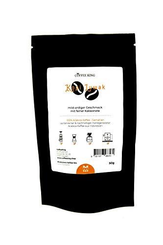 Kopi Luwak 100% Arabica Kaffee 50g (Katzenkaffee von frei lebenden Tieren) (50g Gemahlen)