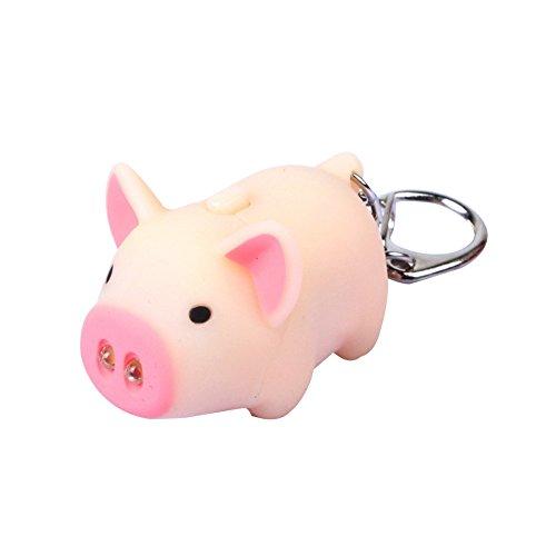 bismarckber Porte-clés style cochon avec lumière LED et son - Cadeau de Noël pour enfants