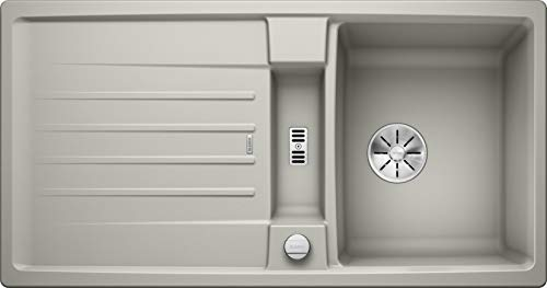 BLANCO 524923 Lexa 5 S Küchenspüle, perlgrau, 50 cm Unterschrank