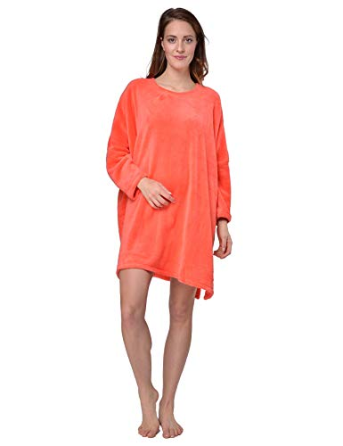 RAIKOU Fleece poncho Capes Coucher Nachthemd One Size (één maat voor iedereen)