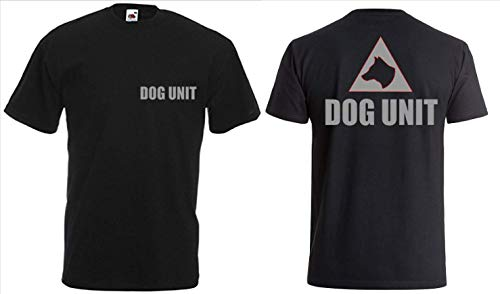 Generic Hunde-T-Shirt K9 Unit Top Hoodie Silber Logo K9 Handler Bekleidung Top Hoodie 100% Baumwolle - XXL