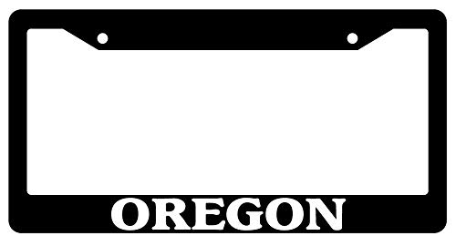 License Plate Frames, Black License Plate Frame Oregon City State Auto Accessory Novelty 2468 Universal Car License Plate Bracket Holder Rust-Proof Rattle-Proof Weather-Proof 15x30cm