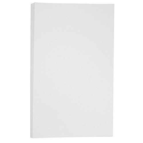 JAM PAPER Legal Vellum Bristol 67lb Cardstock - 8.5 x 14 Coverstock - 147 gsm - White - 50 Sheets/Pack