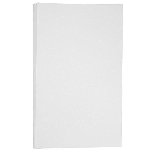 JAM PAPER Cartoncino Pergamena Bristol - 279,4 x 431,8 mm Coverstok - 145gsm - Bianco - 50 Fogli/Confezione