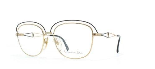 Dior Christian 2461 49 Black Authentic Women Vintage Eyeglasses Frame