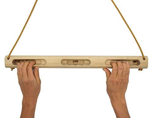 EdelKRAFT® Mobiles Hangboard mit Reepschnur - Fingerkrafttraining für Kletterer Boulderer