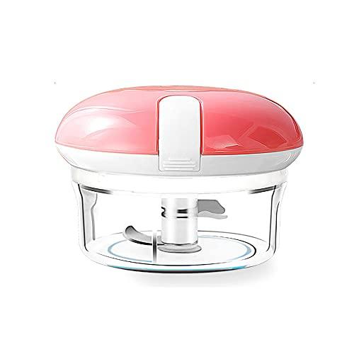 WANGLETA Mini Tritatutto Manuale Tritaaglio Per Uso Domestico Frullatore Multifunzionale Schiacciaaglio Manuale Food Processor Rosa 200ml