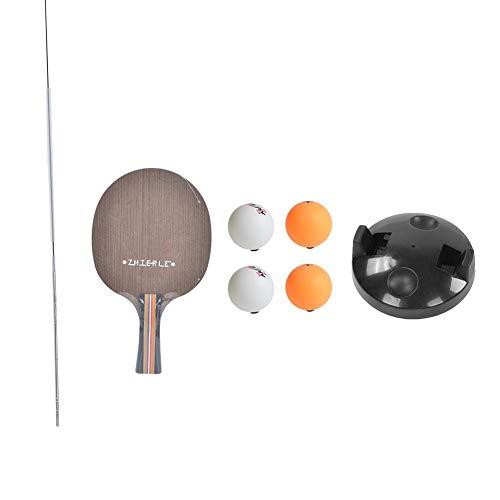Juego de Tenis de Mesa, Eje Suave elástico de Paleta de Tenis de Mesa con Entrenador de Tenis de Mesa para niños Adultos