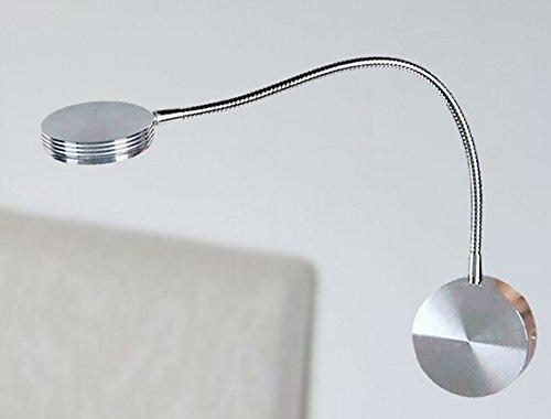 LED Röhre Lampe Zähler Lampe 3W LED Wall Lamp Bett Leseleuchten Lichtröhre Schlauch Spiegel Lampe (Silber)