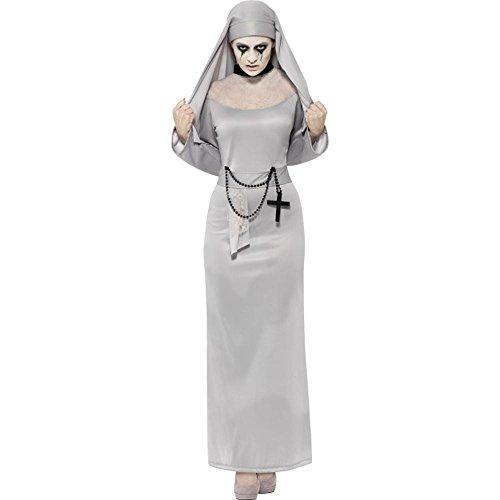 Smiffys Halloween Damen Kostüm Gothic Zombie Nonne Geist Gespenst Gr.S