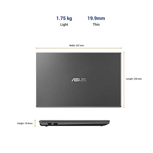 ASUS VivoBook15 X512DA-BQ1546T AMD Ryzen5-3500U(Quad Core)/15.6 FHD IPS/8GB RAM/512GB NVMe SSD/Win.10/Integrated AMD Radeon Vega 8 Graphics/FP Reader/Backlit KB/1.60 Kg/Slate Grey