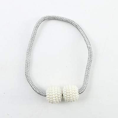 Magnet Rideau Cravate Corde Minimaliste Moderne Perle Suspendue Boucle De Paire De Clips De Rideau Creative 2 Pc Bronze