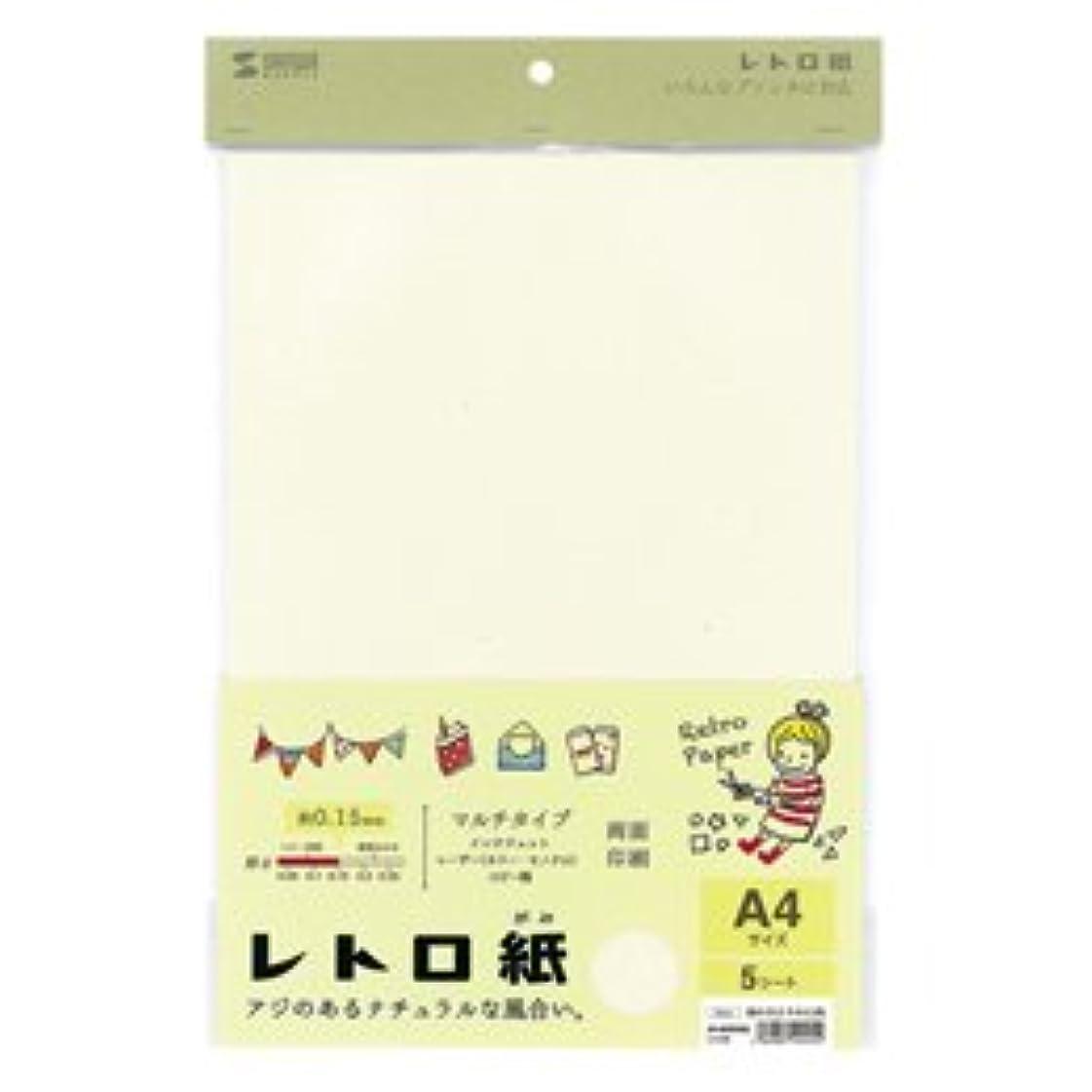 セクション天井準備した(6個まとめ売り) サンワサプライ レトロ紙(マルチタイプ) JP-MTRT08