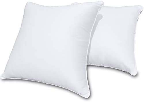 Precoco Throw Pillow Covers 18x18 Inches 100 Cotton White Decorative Pillow Covers with Zipper product image