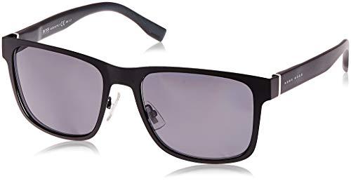 Hugo Boss Herren BOSS 0748/F/S TD K9B 58 Sonnenbrille, Schwarz (Bk Grey Text/Grey Pz)