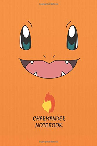 Charmander Notebook: Anime Lover Notebook, 112 Lined Pages, 6 x 9, Gift, School&Office, Pokemon, Charmander