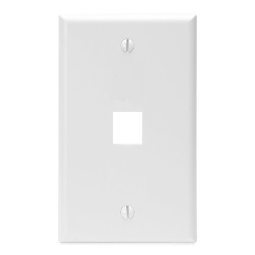Leviton 41080-1WP 1-Port QuickPort Wall Plate, White