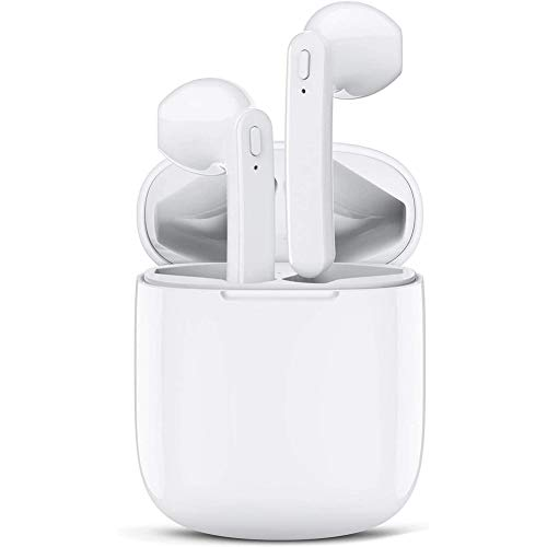Auriculares Bluetooth 5.0 Auricular Inalámbrico Control Táctil con Graves Profundos In-Ear Auriculares Wireless Bluetooth con Caja de Carga Rápida IPX5 Impermeables,para iPhone/Samsung/Android