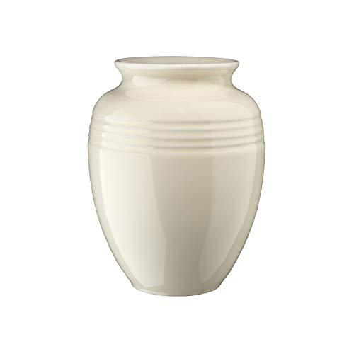 Le Creuset Klassische Steinzeug-Vase, 2 Liter, 14,8 x 14,8 x 18,6 cm, Creme