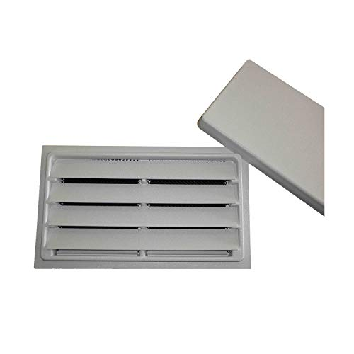 """Crawl Space Manual Air Vent with Removable Cover and Vermin Screen - 8""""x16"""" (White)"""