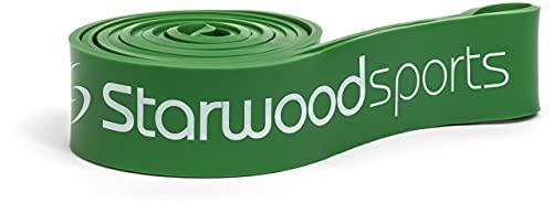 Starwood Sports Bandas elásticas - Bandas elásticas de musculación para Hombres y Mujeres - Trabaja la Fuerza y CREA músculos - Entrenamientos, dominadas asistidas - Verde, 23-57 kg de Resistencia
