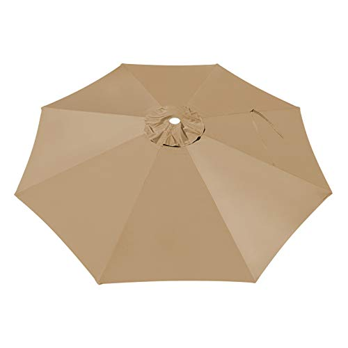 BenefitUSA Replacement Canopy Cover for 10' Cantilever Patio Umbrella Offest Parasol Top Cover (Tan)