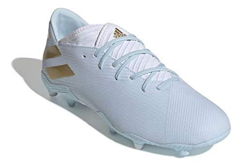 adidas Hombre Nemeziz Messi 19.3 FG 15Y Zapatos de Fútbol Blanco, 45 1/3