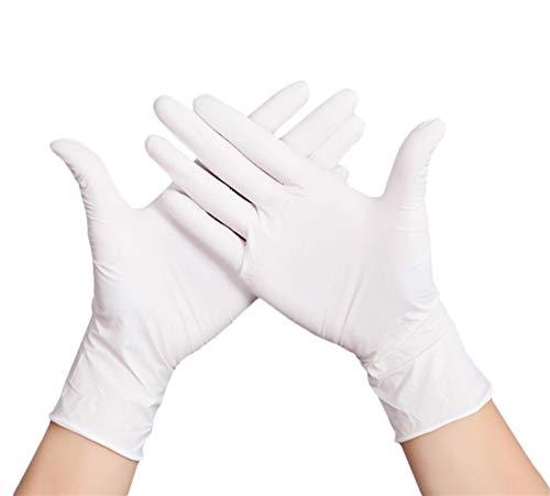 Icegrey 100 stks Nitril Wegwerphandschoenen, Waterdichte voedselkwaliteit Poedervrije Handschoen voor mechanica, Automotief, Reiniging, Veiligheid Werk, Schilderij S : Palm width 7-8cm / 2.8