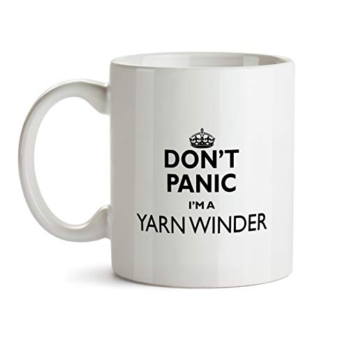 Yarn Winder Gift Mug - Don't Panic Best Ever Coffee Cup Colleague Co-Worker Thank You Appreciation Present