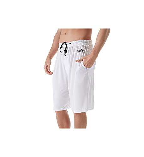 STACY ADAMS Men's Knit Sleep Short, White, Large