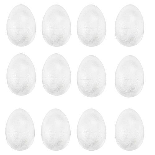 TRIXES Lot de 12 œufs de Pâques en polystyrène