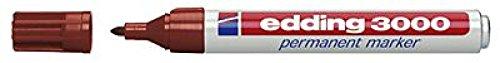 Permanentmarker edding 3000, nachfüllbar, Rundspitze, Schaft Aluminium, braun