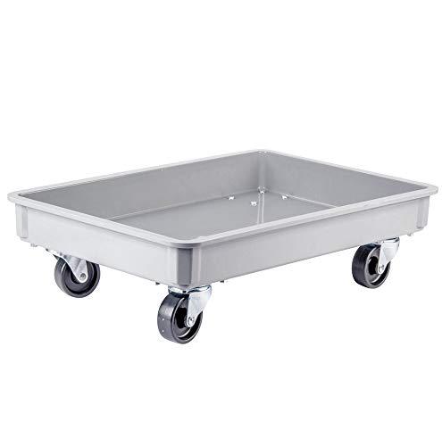 "MFG Tray Fiberglass Dough Proofing Box Gray Dolly 18"" x 26"""