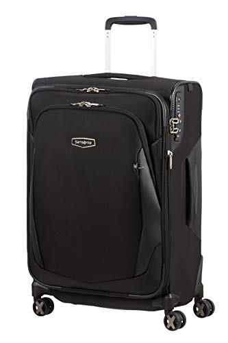 Samsonite X'Blade 4.0 - Spinner M Expandable Suitcase, 63 cm, 66/72 Litre, Black