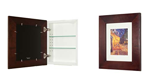 14x18 Concealed Medicine Cabinet (Large), a Recessed Mirrorless Medicine Cabinet with a Picture...