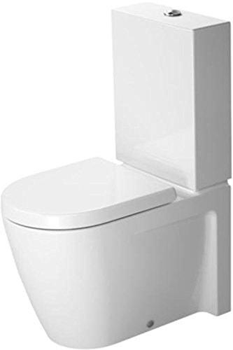 Duravit Starck 2 Stand-WC Kombination (ohne Spülkasten, ohne Deckel) weiß 370 x 630 mm, mit Wondergliss, 21450900001