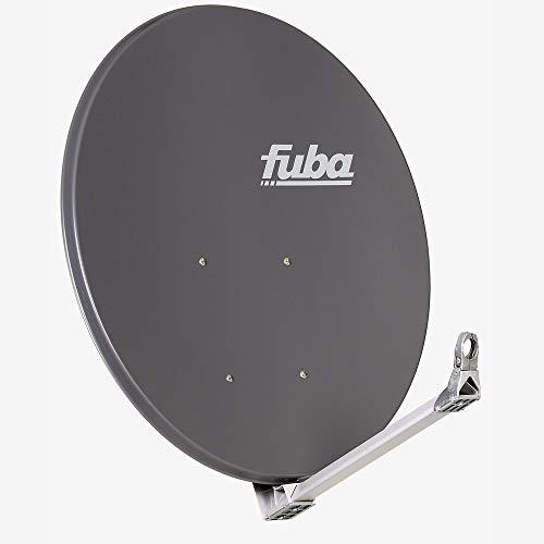 Fuba DAA 110 A anthrazit Aluminium Satellitenschüssel 110x99 cm - Sat-Antenne/Sat-Spiegel, stabiler Tragarm mit Kabeldurchführung, LNB-Halterung aus Alu Druckguss