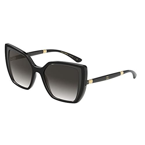 Dolce & Gabbana DG6138 Black On Tranparent Grey/Grey/Grey Gradient One Size