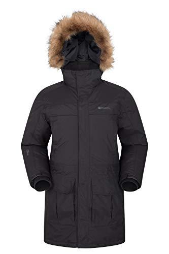 Mountain Warehouse Doudoune Antarctic Extreme Homme - Imperméable, Taille Ajustable, Manteau d'hiver Respirant & au séchage Rapide, Bomber - Idéale par Temps Froid Gris Fer XS