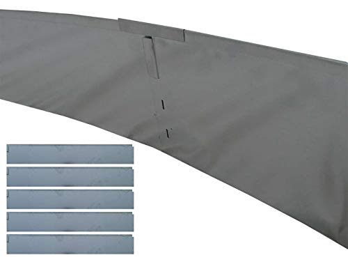 Gartenpirat Rasenkante Metall 590 cm Höhe 19,5 cm (5x118 cm) Beeteinfassung