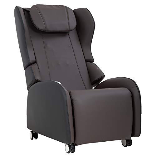 Full Body Shiatsu Massage Chair With 3-Speed Folding Backrest Electric Massage Chair Easy To Move For Living Room Bedroom Office, Brown