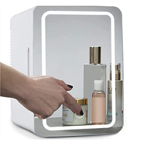 8L Coche Mini Nevera Cosmética Auto Drinkes Cooler Box Congelador Para El Cuidado De La Piel Con Luz LED Para El Cuidado De La Piel, Dormitorio
