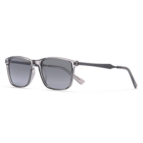SXRAI Gafas de Sol polarizadas cuadradas translúcidas para Hombres Gafas de conducción de visión Nocturna,C5