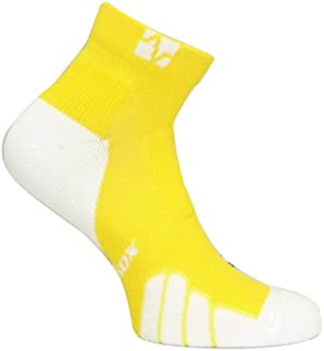 Vitalsox Low Cut Drystat Compression Running and Tennis Socks, Yellow, Small