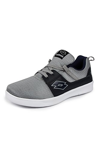 6. Lotto Men's String Silver/Navy Running Shoes