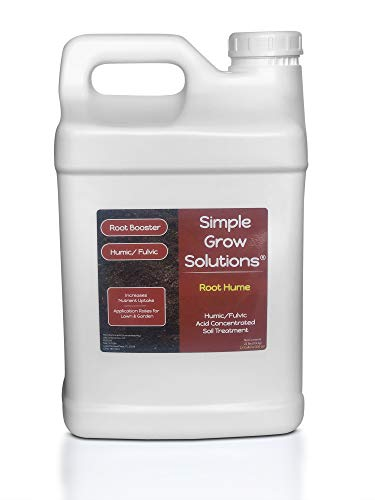 Raw Organic Humic Fulvic Acid- Liquid Carbon - Root Hume- Simple Grow Solutions- Natural Lawn & Garden Treatment- Nutrient Plant Food Enhancer- Concentrated Turf Grass Soil Conditioner (2.5 Gallon)